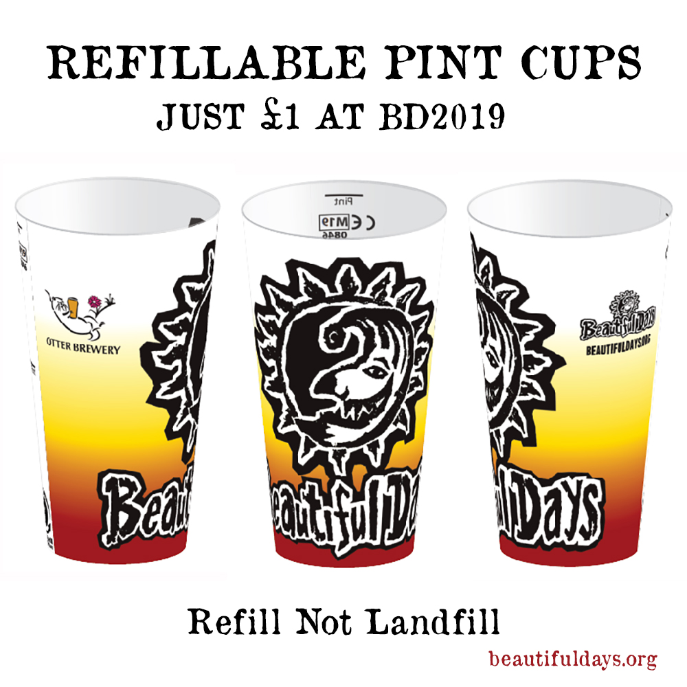 Refillable Pint Cups